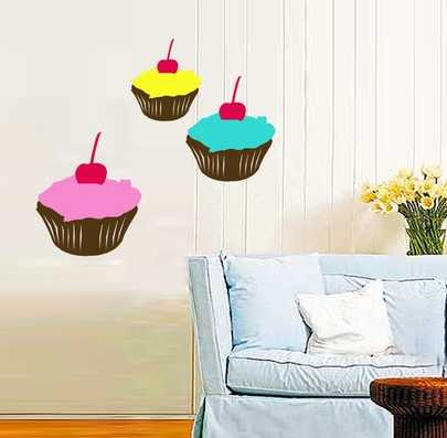 Cupcake home decor dessert cup cake chic sign home for Cupcake wall art