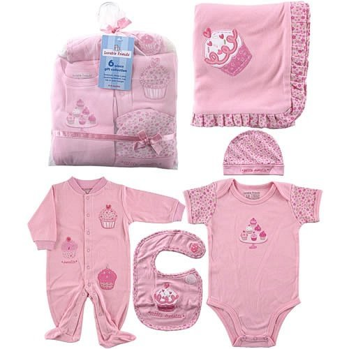 Hudson Baby 6-Piece Baby Clothing Little Sweetie Girls Gift Collection ...