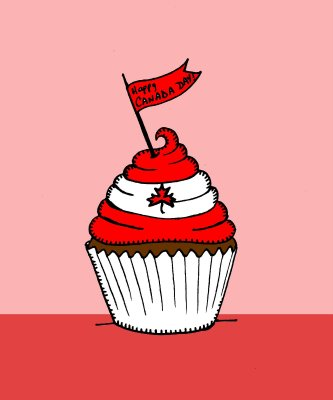 canada day cupcakes. Happy Canada Day