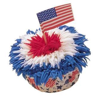 July 4th Patriotic Fireworks Cupcake By Wilton Com